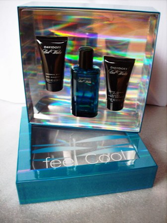 COOL WATER EDT 75ml + AFTER SHAVE BALSAM 50ml + GEL DE DUCHA 50m