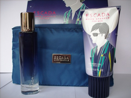 ESCADA MOON SPARKLE EDT 50ml + GEL DE BAÃ'O 150ml + BOLSO DE VIA